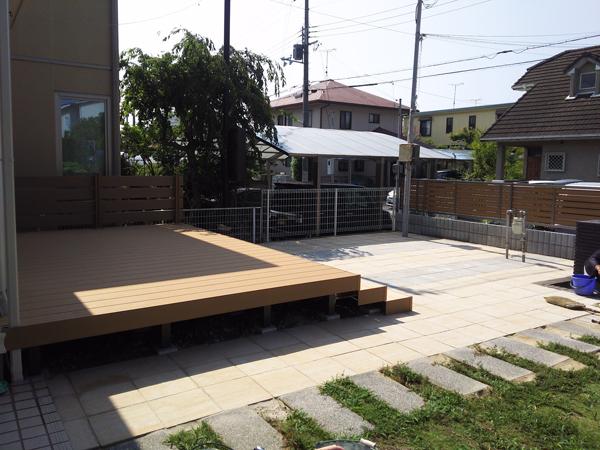 フェンスとウッドデッキを設置!使いやすくスッキリしたお庭に 8枚目