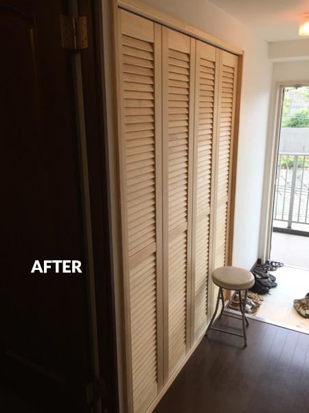 収納扉・洗面台・トイレなどを天然木材やナチュラル柄にリフォーム