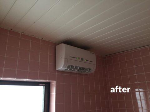 浴室乾燥暖房機の後付け設置工事で寒い時期の入浴も快適に