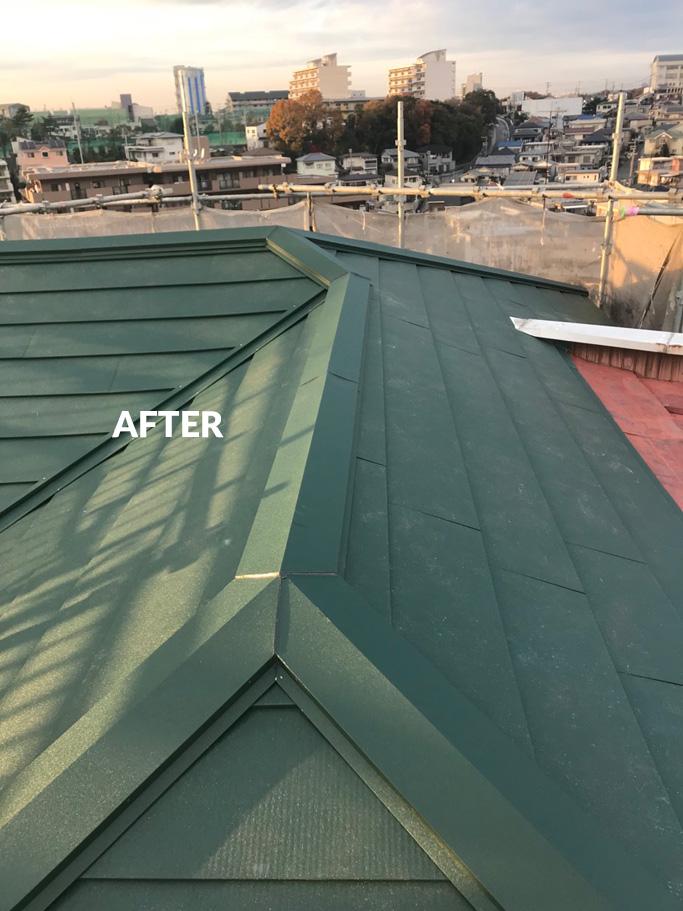 雨漏りする屋根をリフォームして、遮音・断熱効果もアップ 1枚目