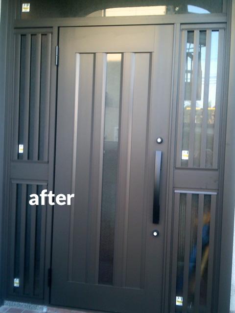 玄関ドアの交換リフォーム カバー工法で早い!簡単!キレイ!