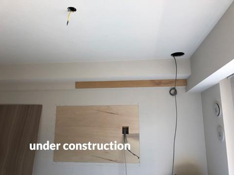 リビング照明・壁掛けテレビ設置工事 おしゃれな雰囲気にリフォーム 2枚目