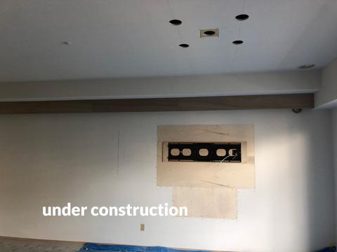 リビング照明・壁掛けテレビ設置工事 おしゃれな雰囲気にリフォーム 5枚目
