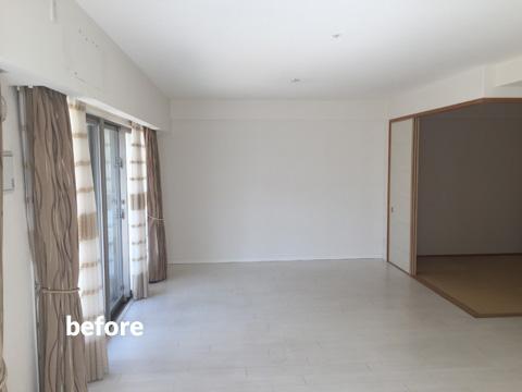 マンション1階住居をナチュラル感のある床材で暖かみのある空間に 2枚目