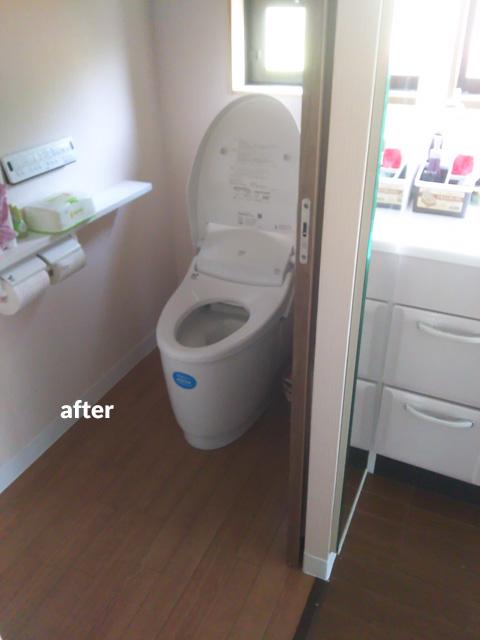 キッチン・トイレ・洗面所などの水回りとウッドデッキのリフォーム 5枚目