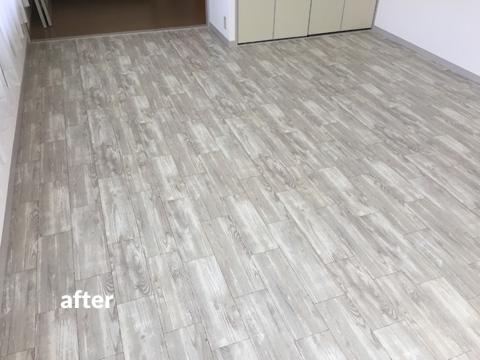 原状回復が必要な賃貸オフィスの床を貼って剥がせるリフォーム 1枚目