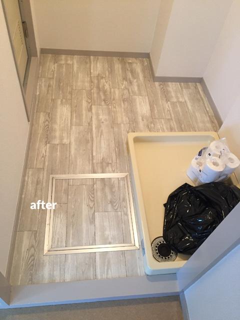 原状回復が必要な賃貸オフィスの床を貼って剥がせるリフォーム 9枚目