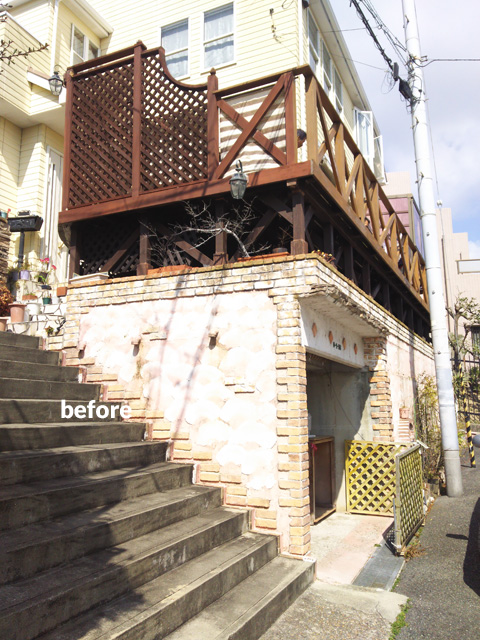 ウッドデッキ改修&外壁塗装工事 補強して耐久性もバッチリ 3枚目