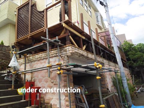 ウッドデッキ改修&外壁塗装工事 補強して耐久性もバッチリ 2枚目