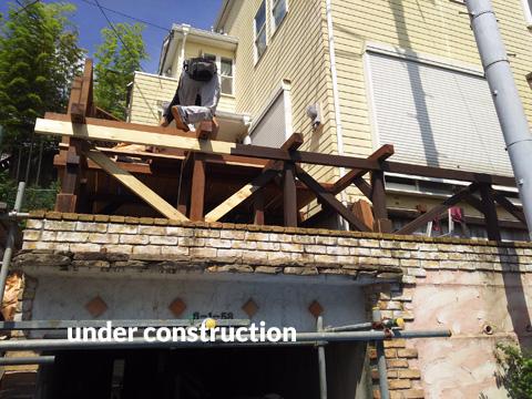ウッドデッキ改修&外壁塗装工事 補強して耐久性もバッチリ 5枚目