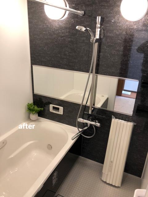 浴室・洗面所をダークな色合いでシックな空間にリフォーム
