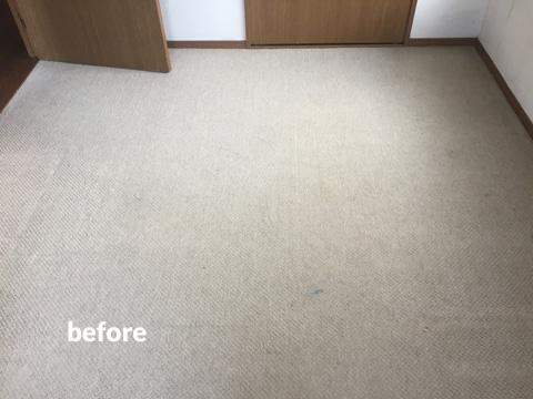 マンション貸室の床クッションフロアリフォーム工事 2枚目
