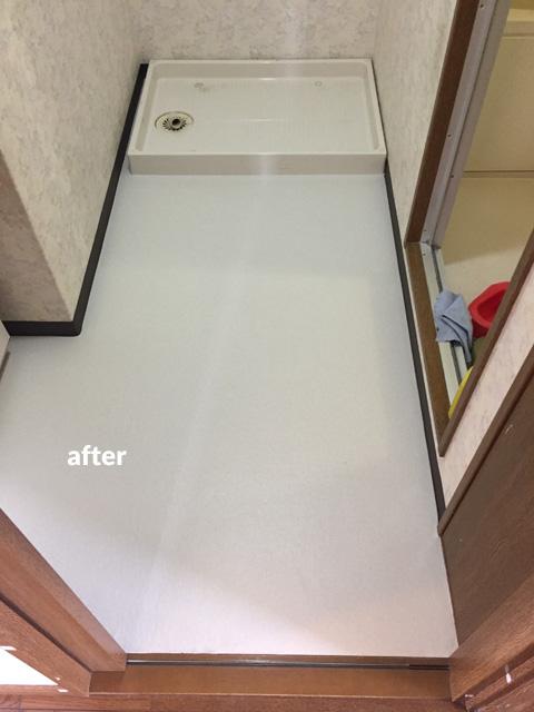マンション貸室の床クッションフロアリフォーム工事 5枚目