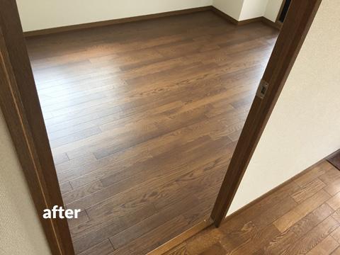 マンション貸室の床クッションフロアリフォーム工事