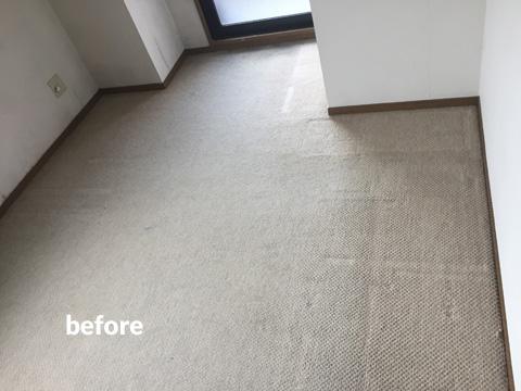 マンション貸室の床クッションフロアリフォーム工事 4枚目