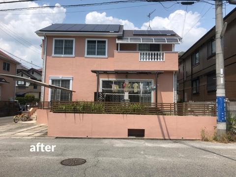 築15年戸建を優しい色合いでオシャレな雰囲気に外壁塗装
